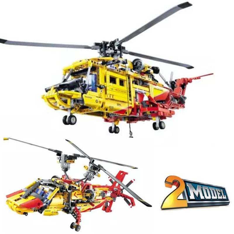 City Technic Series 2-in-1 Helicopter Building Blocks sets Bricks kit Classic Model Kids Toys gift Marvel Compatible Legoings decool technic city series 2 in 1 helicopter building blocks bricks model kids toys marvel compatible legoings