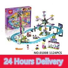 LEPIN 01008 1124Pcs Amusement Park Roller Coaster Building Block figures Blocks Bricks Toys friends for girl 41130