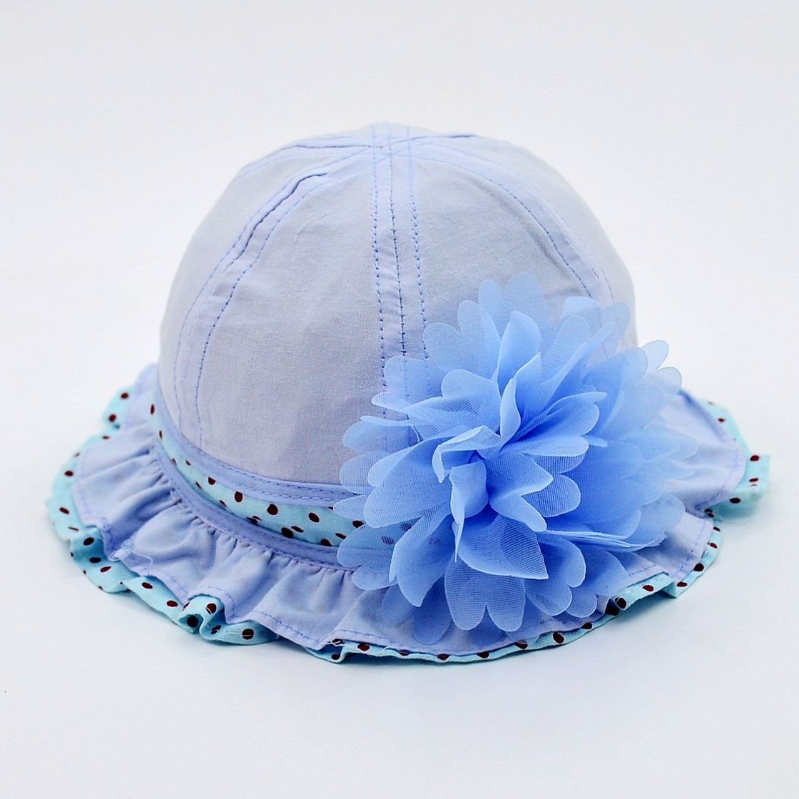 Baby Girl Kid child Infant floral flower brim Bucket Cap Sun Hat