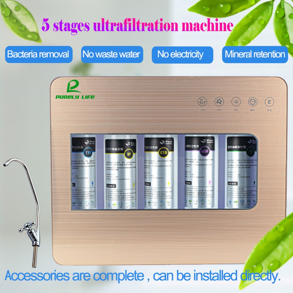 High quality Kitchen drinking water filter machine water filter system for the tap uf water purifier ultrafilter ultrafiltration water filter machine 500l h kitchen water filter water purifier uf stainless water filter