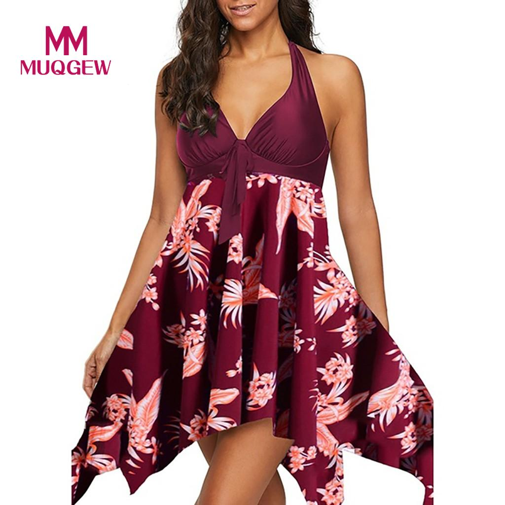 Holiday Summer Floral Print dress summer women for beach Sleeveless dress woman basic Knee-Length Beach Dress sukienka #G9