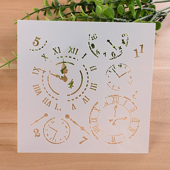"13cm 5.1"" Vintage Clock DIY Layering Stencils Wall Painting Scrapbook Coloring Embossing Album Decorative Paper Card Template"