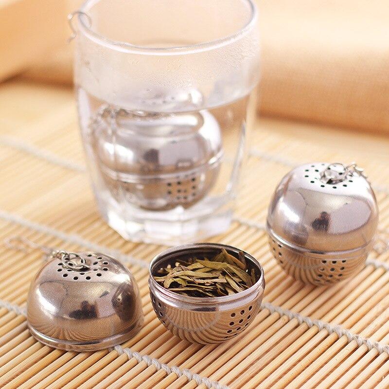 Best-selling Essential Stainless Steel Ball Tea Infuser Mesh Filter Strainer W/hook Loose Tea Leaf Spice Home Kitchen