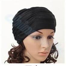 200pcs Sexy Lady Womens Girls Long Hair Swim Cap Stretch Drape Bathing Swimming Sports Seaside Fold Hat