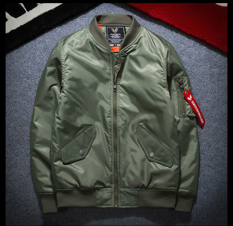 2017 New Arrival Men's Spring Autumn MA-1 Flight Jacket Fashion Lining Waterproof Bomber Jacket Air-Force Pilot Jackets Casual