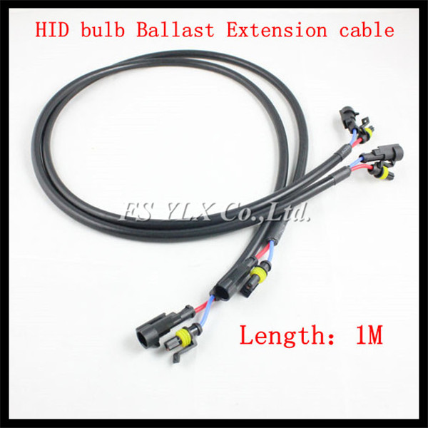 100CM 1M High Voltage wire harness HID extension cable for 35W 55W 75W 100W H1 H4 high voltage wire harness diagram wiring diagrams for diy car 6 wire high voltage harness at mifinder.co