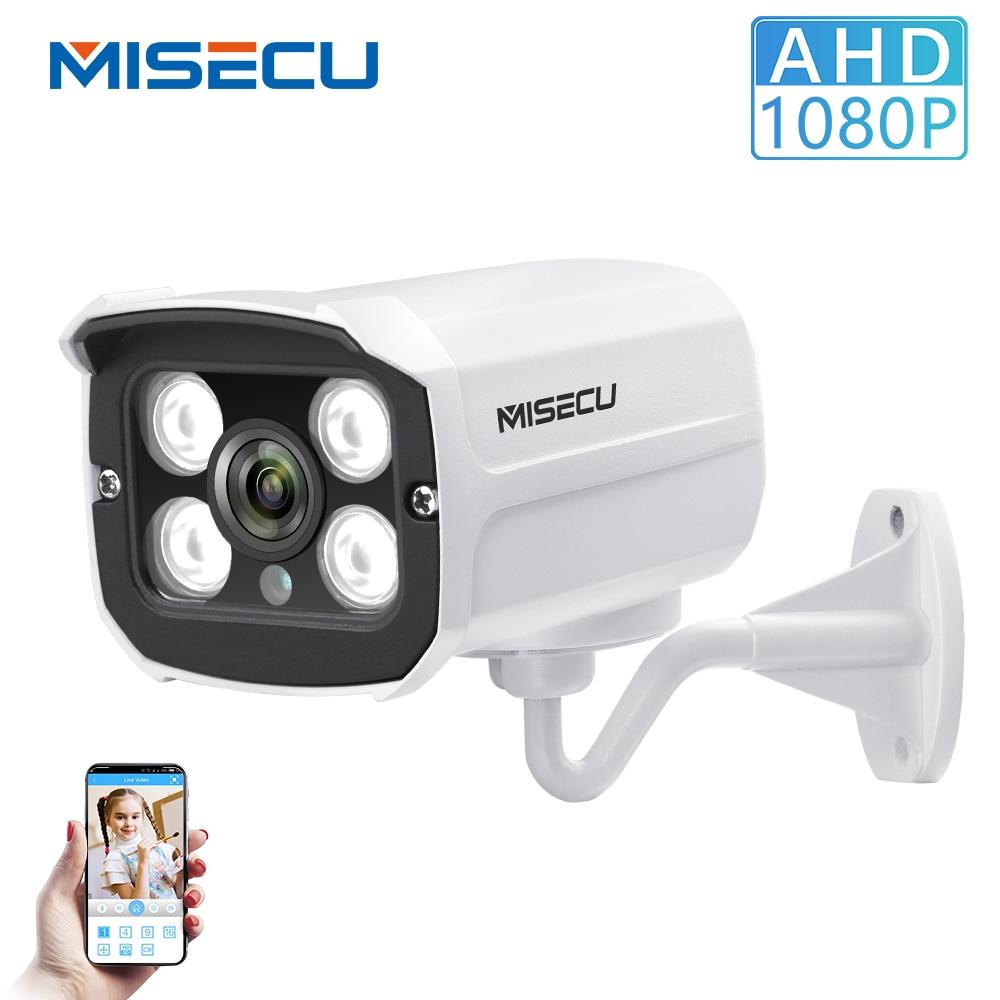 MISECU 1080 P 2.0MP Full HD CCTV AHD IP66 Im Freien Wasserdichte Metall Gewehrkugel Sicherheit Überwachung CCTV Kamera 4 PCS Array IR LEDS
