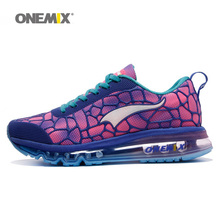 ONEMIX Women Running Shoes Max Athletic Trainers Girls Colorful Zapatillas Sports Footwear Cushion Outdoor Walking Sneakers 2018