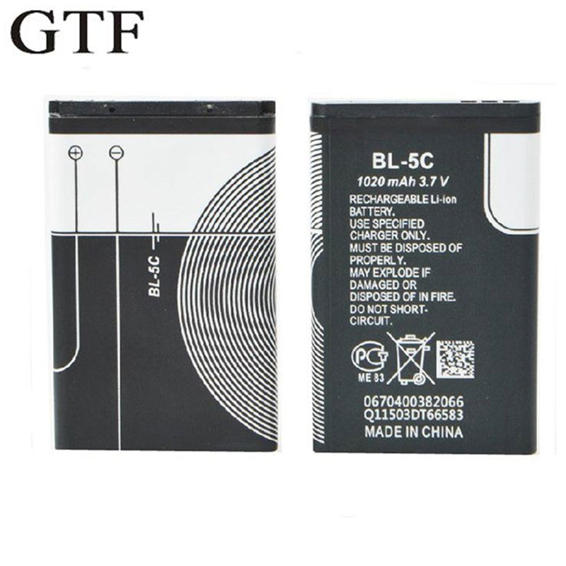 GTF 3.7V 1020mah Battery For Nokia Phone Battery Small Speaker With Card Radio Battery BL-5C Cell Li-polymer Batteries