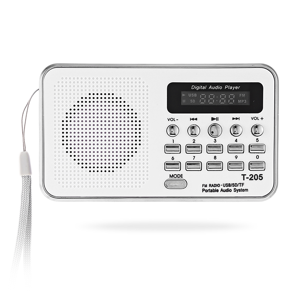 Fornorm Tragbare Audio-player Digital Lcd Fm Radio Stereo Audio Lautsprecher Usb Tf Mp3 Musik Audio-player Cassette & Spieler