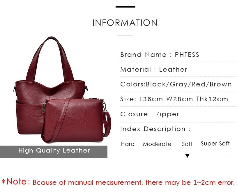 2 pcs bolsas e bolsas das senhoras