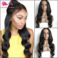 High Quality Heat Resistant Synthetic Lace Front Wigs With Baby Hair Natural Black Long Body Wave Synthetic Wigs For Black Women