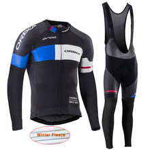 ropa ciclismo Winter thermal fleece Orbea cycling jersey MTB bike Long Sleeve maillot hombre men cycle clothing Sportwear I14