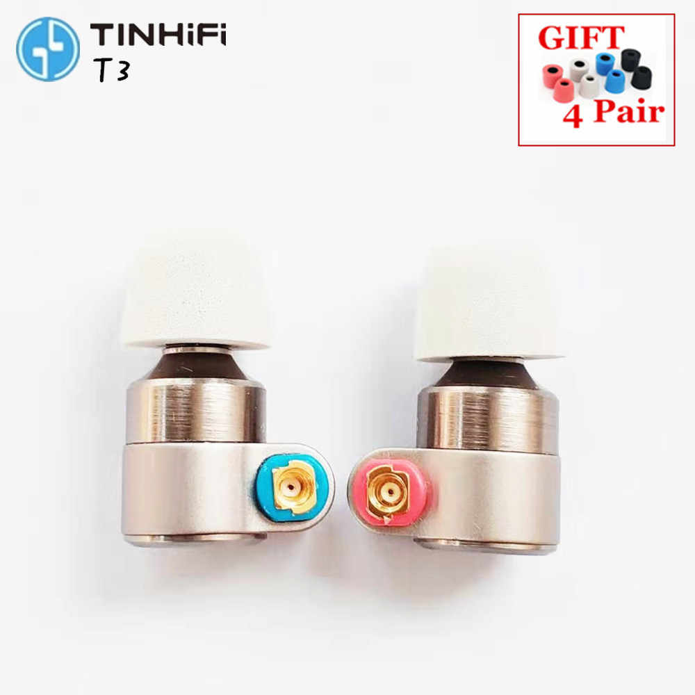 Tin Audio T3 In Ear Earphone 1DD+1BA Knowles Drive HIFI Earphone Metal Earphone Earbud with Gold-plated OFC SPC Cable TIN T2 T3