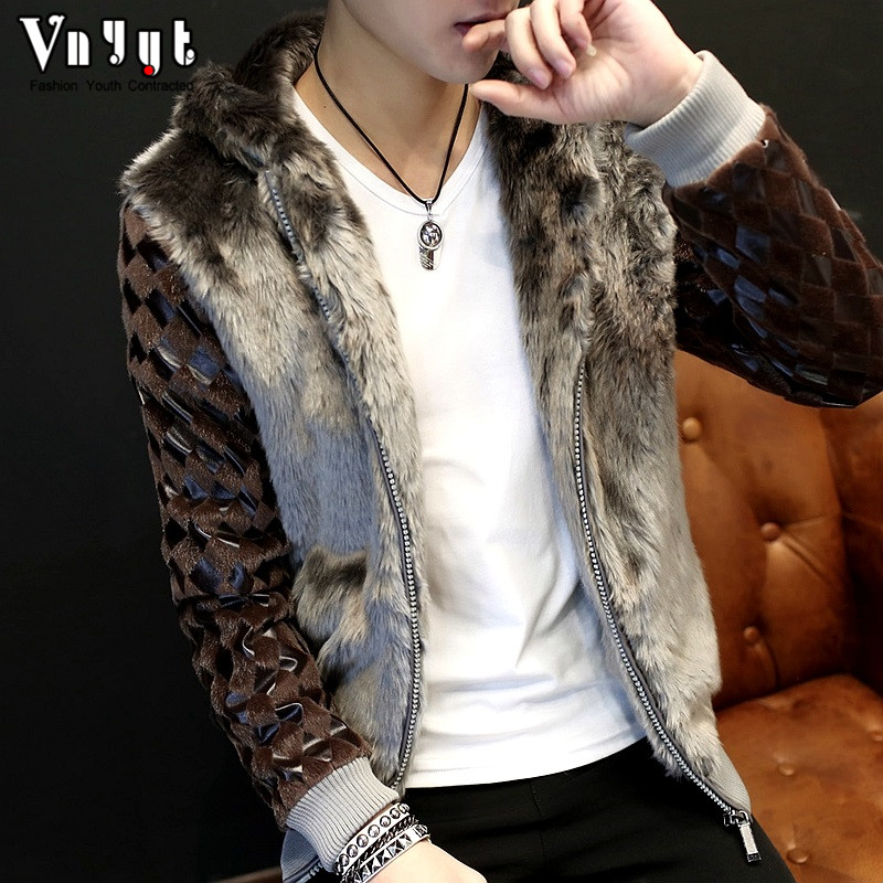 2020 Men's Short Leather Jacket Fur Jacket Non-mainstream Fur Coat