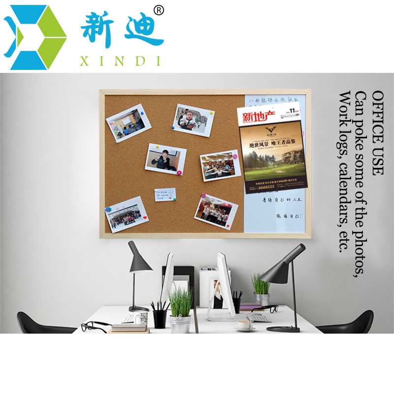 XINDI 30*40cm Whiteboard Cork Board Combination 3:1 Dry Wipe Bullentin Drawing Board Pine Wood Frame New Magnetic White Boards 5