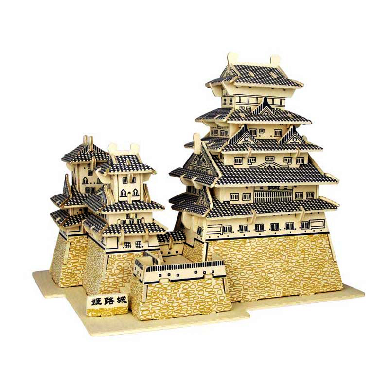 A Kids Toys Of 3d Puzzle Wooden Toys For Children Himeji Jo A Best Montessori Educationaly Diy Toy As A Gift For Kids And Adult 70pcs diy wooden theatre mechanical transmission model assembly puzzle toy for kids xmas gift