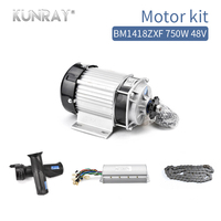 BM1418ZXF Electric Tricycle Car Conversion Kit 750W 48V 60V DC Brushless Motor With Controller Chain And Throttle Set Mid Drive