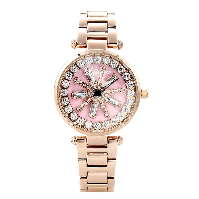 2018 Top Brand Rotation Women Rhinestone Watches Fashion Ladies Casual Dress Watch Women Elegant Luxury Quartz Watch Relogios цена 2017