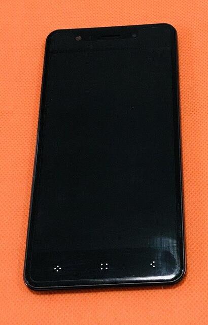 """사용 된 원래 lcd 디스플레이 + 디지타이저 터치 스크린 유리 + 프레임 elephone p8 미니 mt6750t octa 코어 5.0 """"fhd 무료 배송"""