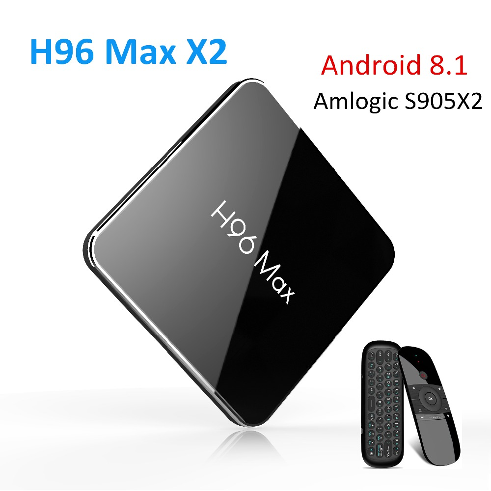 H96 Max Smart TV BOX Android 8.1 Amlogic S905X2 LPDDR4 Quad Core 4GB 32GB 64GB 2.4G&5GHz Wifi BT H.265 4K Set top box pk X96 Max цена