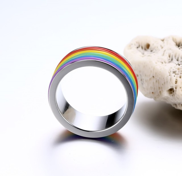 High Polishing Stainless Steel Best Silicone Wedding Ring in Store