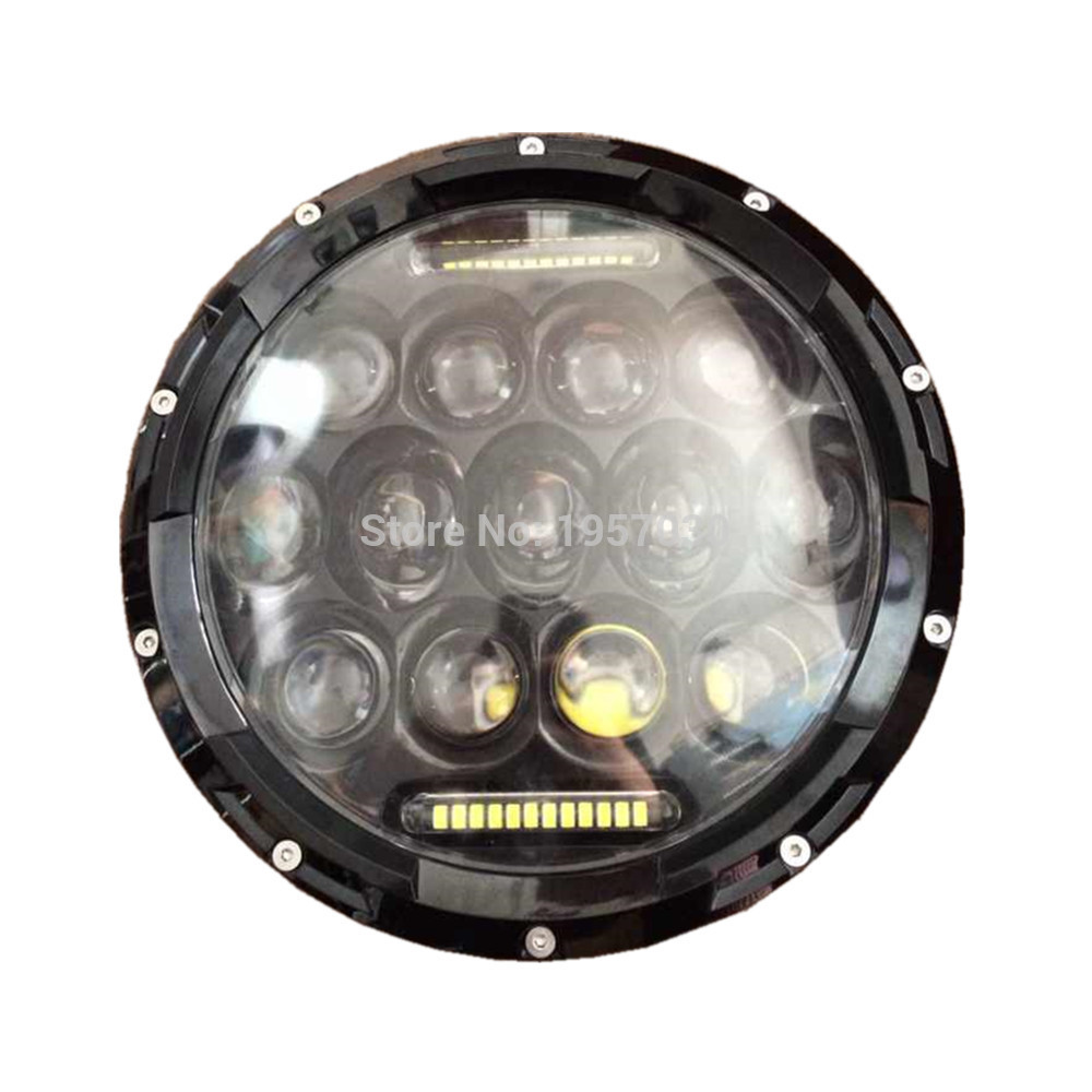 2pcs New 7 led headlight high low beam, 75W round 7''inch 12V-14V Driving led work Light Water-proof IP67 автоинструменты new design autocom cdp 2014 2 3in1 led ds150