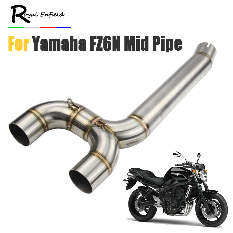 FZ6S FZ6N Motorcycle Exhaust Muffler pipe Connecter Middle Pipe For Yamaha FZ 6N FZ 6S FZ6 Motorcycle pipe exhaust slip on syste