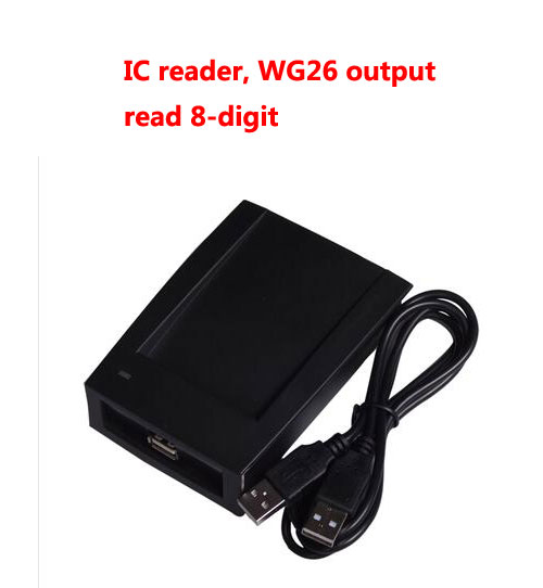 USB desk-top reader,RFID IC card reader ,13.56M,S50, Read 8-digit ,wg26 output ,sn:09C-MF-8,min:1pc