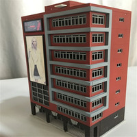 1:144 N Scale Outland Models Train Railway Trade Center Skyscraper Building Shopping Center Toy Models
