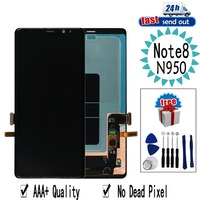 6,3 AMOLED ЖК дисплей для samsung Galaxy Note 8 Note8 N950 ЖК дисплей Дисплей N950F N9500 сенсорный экран протестированый дигитайзер в сборе