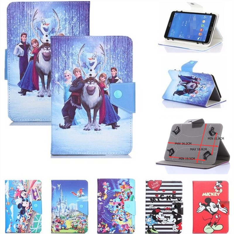 HISTERS Cartoon Cover for <font><b>Digma</b></font> Plane <font><b>1550S</b></font> 3G PS1163MG 10.1 Inch Tablet UNIVERSAL PU Leather Stand Case for Kids image