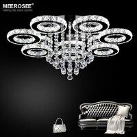 Modern LED Chandeliers Light Stainless steel Crystal Lamp for Living Bedroom Diamond Ring LED Lustres Chrome Chandelier Lighting