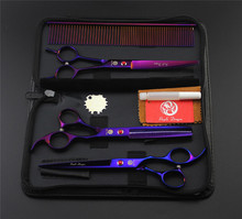 7inch Pet scissors sets,Straight & Thinning & Curved Scissor,3pcs /set,Free shipping