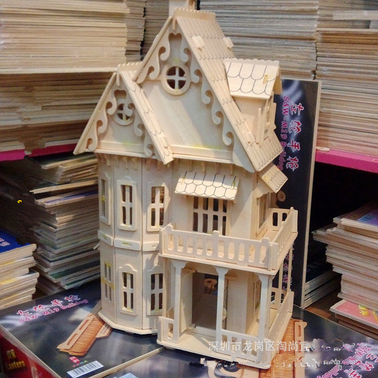 1:24 Scale Gothic Woodhouse Villa DIY Wooden Dollhouse And Furniture  Handcraft 3D Miniature Model Kitsu0026 Picture Childen Gifts  In Doll Houses  From Toys ...