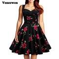 Горячие продажа летний новый Старинные Платья повседневная dot V-образным Вырезом Vestidos платье без рукавов большой туту платье бесплатная доставка