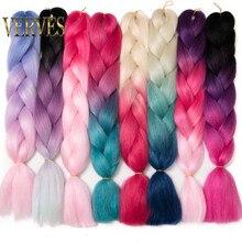 VERVES 10 pcs/lot Ombre Braiding Hair Jumbo braids 24 inch S