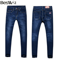Beswlz Men Pencil Jeans Pants Casual Fashion Men Classical Denim Jeans Slim Famous Brand Male Straight Blue Jeans 3089