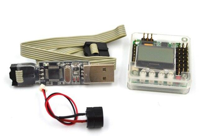 МИНИ KK2.15 Управления Полетом с Пластиковой Оболочке и USBASP ISP PRGMR Программист Инструмент KK2.1 KK2