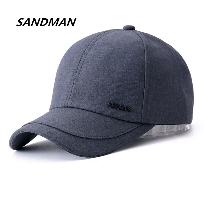 SANDMAN Cotton Solid Unisex Brand Baseball Cap Sports Golf Snapback Simple Color Hats For Men Women Sun Outdoor Dad Hat
