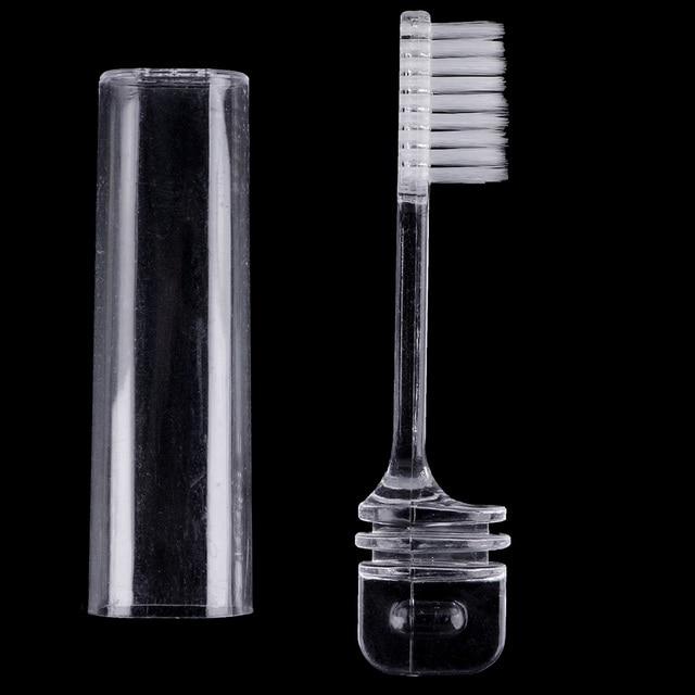 Plástico dientes plegable Portable que acampa del recorrido al aire libre plegable cepillo de dientes