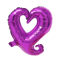 FBIL Heart Shape 18 Inch Foil Birthday Party Supplies Wedding Decor Balloons Lot Purple 50pcs