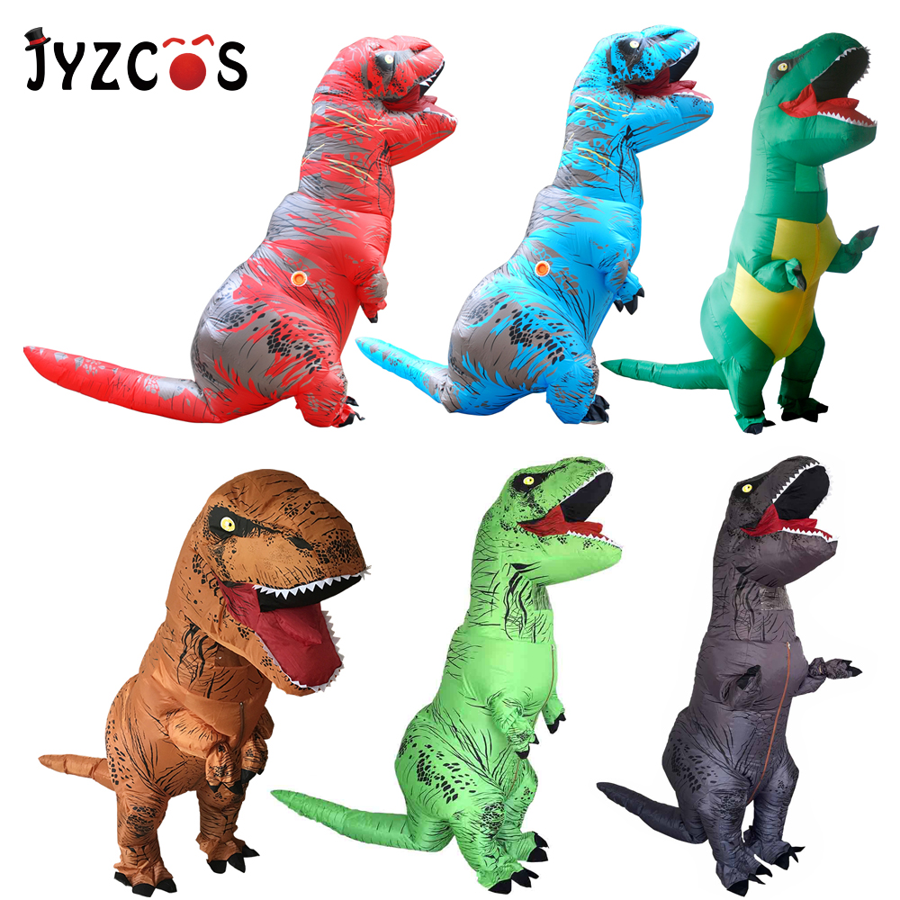 2f223a1b1fe4 JYZCOS Adult T REX Inflatable Costume Dinosaur Costume Halloween Party  Cosplay Costume for Women Men Kids Carnival Costume