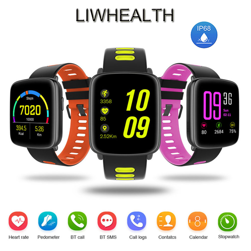 Color IP68 Smart Watch Bluetooth Phone Call Heart Rate Monitor Montre Connect Men/Women For IOS/Pebblea/Huawei Smartwatch MIC цена