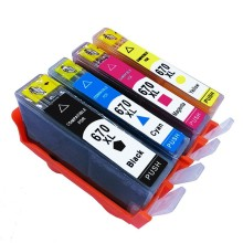 4 Pack 670 XL 670XL Ink Cartridges For HP HP670 HP670XL Deskjet Advantage 3525 4615 4625 5525 6520 6525 Inkjet Printer