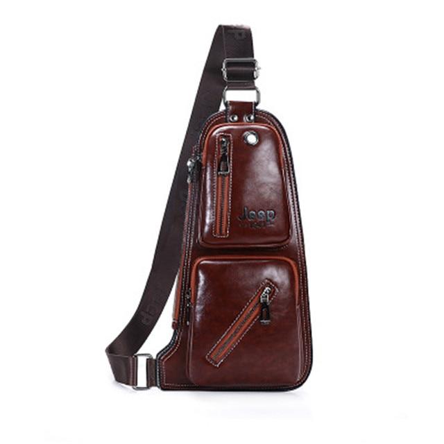 0f4b9272113c 2018 JEEP BULUO Famous Brand Mens Sling Bag Single Shoulder Bag Men Leather  Chest Pack Crossbody Bag for Man Bolsas Masculina