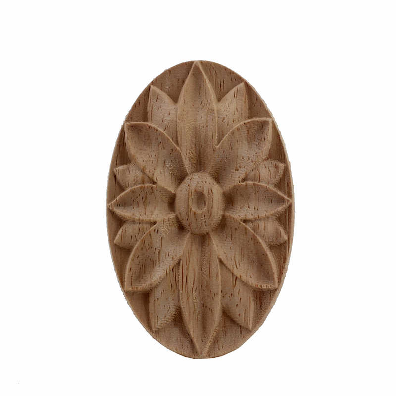 Vzlx Wood Lique Decal Fl Onlay Vintage For Wall Doors Cabinet Furniture Home Decor Decoration Accessories Maison