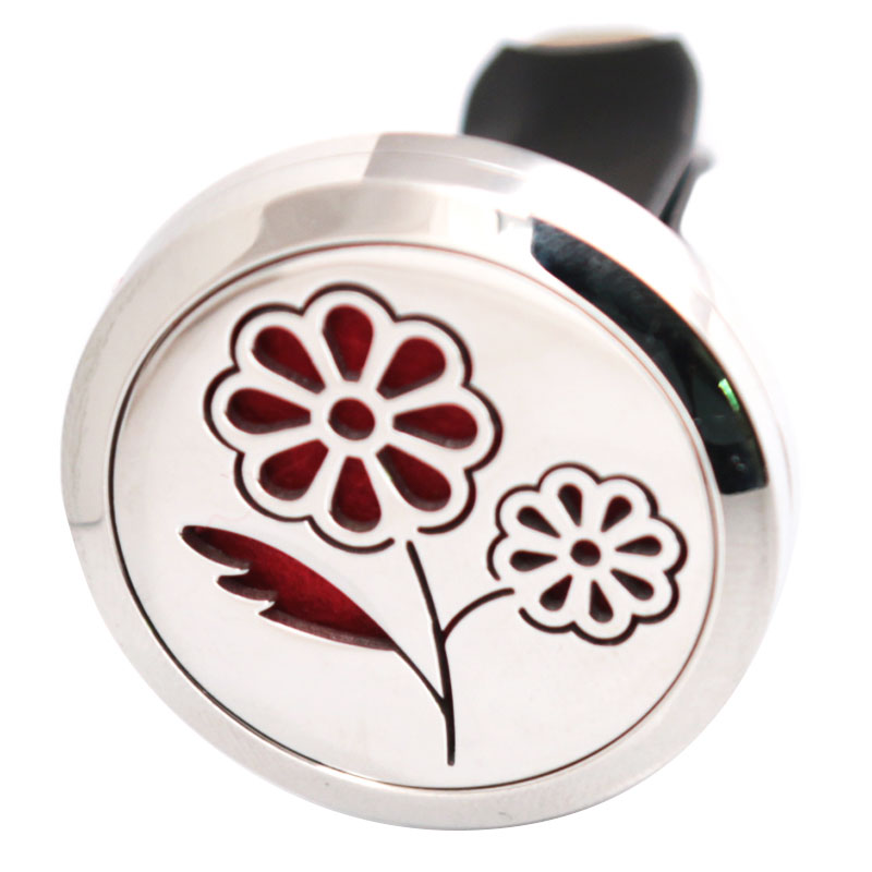 font b Beautiful b font Flower 30mm Diffuser 316 Stainless Steel Car Aroma Locket font