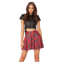 The New Black Milk Europe And The Big Summer Sky Digital Red Plaid Skirt On Elastic
