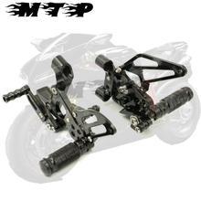 Черные Регулируемые задние наборы для ног с ЧПУ для Ducati 1199 Panigale S 2012 2013 12-14 Для Ducati 899 Panigale